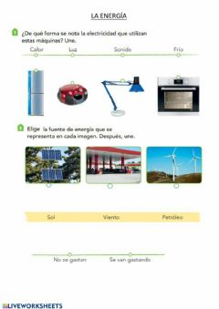 Interactive worksheet Energia