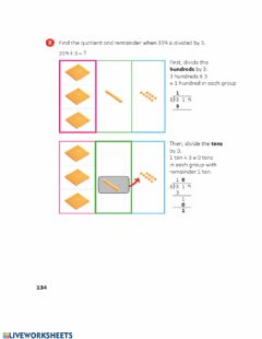 Interactive worksheet Chapter 7 - Division