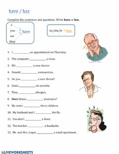Interactive worksheet Have or has