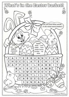 Interactive worksheet What's in the Easter basket?