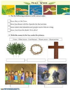 Interactive worksheet Holy Week
