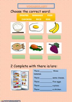 Interactive worksheet There is some food