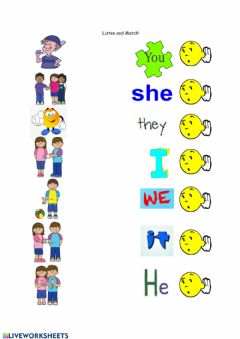 Ficha interactiva Personal Pronouns