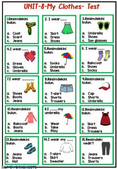 Interactive worksheet My Clothes
