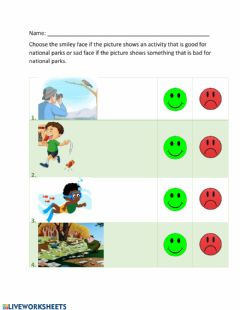 Interactive worksheet Caring for National Parks2