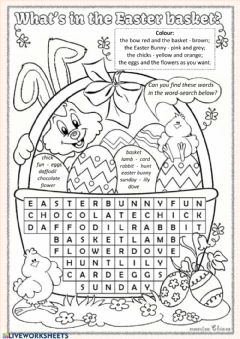 Interactive worksheet Easter Search