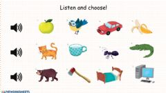 Interactive worksheet Letter Sounds (A,B,C)