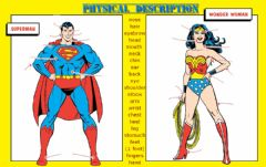 Interactive worksheet Physical appearance superheroes