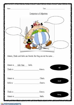 Interactive worksheet Comparison of adjectives