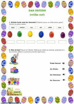 Interactive worksheet Das Ostern