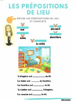 Interactive worksheet Prépositions de lieu
