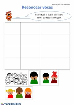 Interactive worksheet Agrupaciones Vocales