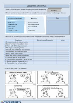 Interactive worksheet ADVERBIOS