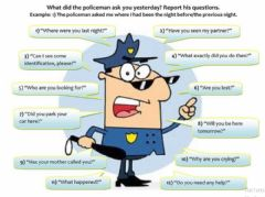 Interactive worksheet Reported Speech questions