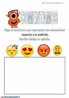Interactive worksheet Comentario