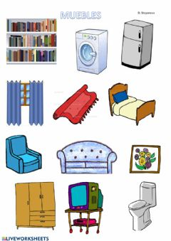 Interactive worksheet Muebles