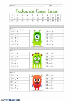 Interactive worksheet Coco Loco 1