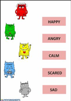 Interactive worksheet Emotions and feelings
