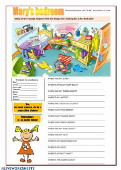 Interactive worksheet Mary's room
