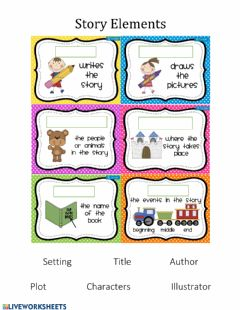 Interactive worksheet Story Elements Drag and Drop
