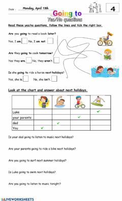 Interactive worksheet 5° 4