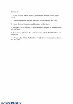 Interactive worksheet Exercise 6