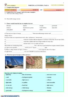 Interactive worksheet Energy. page 4
