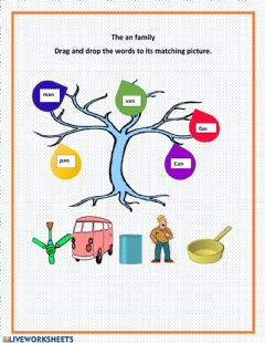 Interactive worksheet The an Family