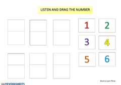 Interactive worksheet Numbers 1 to 6