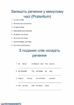 Interactive worksheet Prateritum