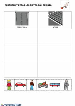 Interactive worksheet Clasificar vehiculo-peatones