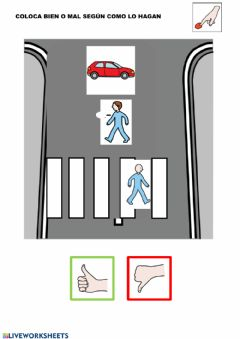 Interactive worksheet Cruzar la carretera