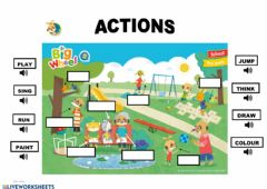 Interactive worksheet Actions 4 - P-5