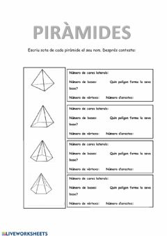 Interactive worksheet Piràmides 4t