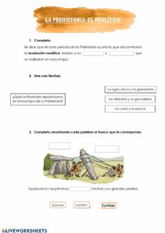 Interactive worksheet Ciencias Sociales Tema 9