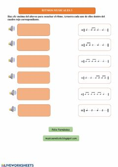 Interactive worksheet Ritmos musicales 3