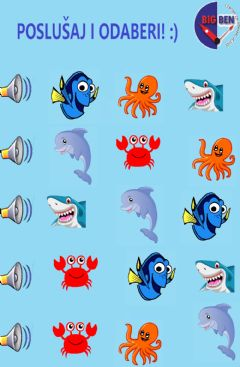Ficha interactiva Sea creatures kids 2