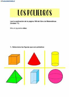 Interactive worksheet Poliedros I