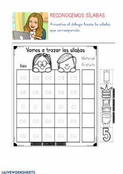 Interactive worksheet Sílabas C