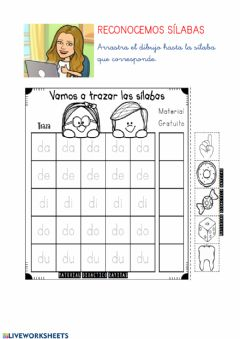 Interactive worksheet Sílabas D