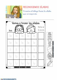 Interactive worksheet Sílabas L