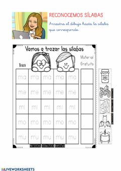 Interactive worksheet Sílabas M