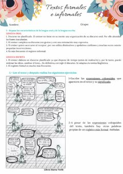 Interactive worksheet Textos formales e informales