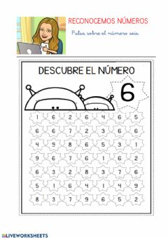 Interactive worksheet Números