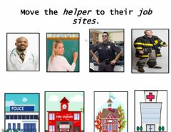 Ficha interactiva Community Helpers to job sites