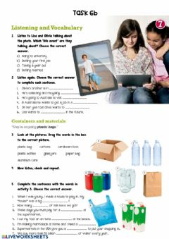 Interactive worksheet A gap year recycling