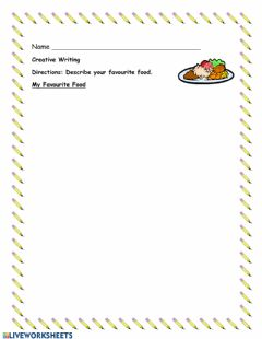 Interactive worksheet My favourite food