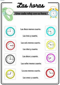 Interactive worksheet Las horas