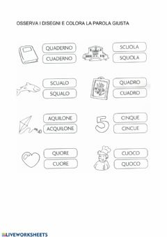 Interactive worksheet Cu-qu