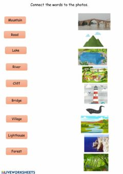 Interactive worksheet Landscapes